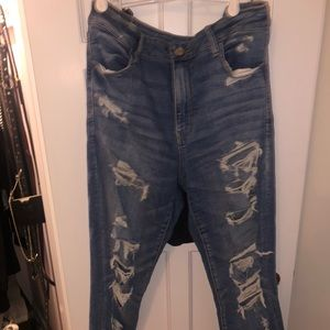American Eagle Jeans Size 14 High Waisted